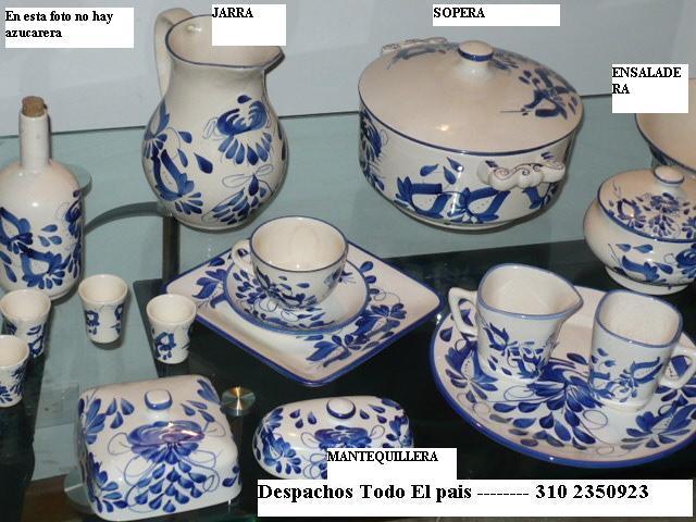 Vajillas losa ceramica pintada a mano viboral colombia - Vajillas pintadas a mano ...